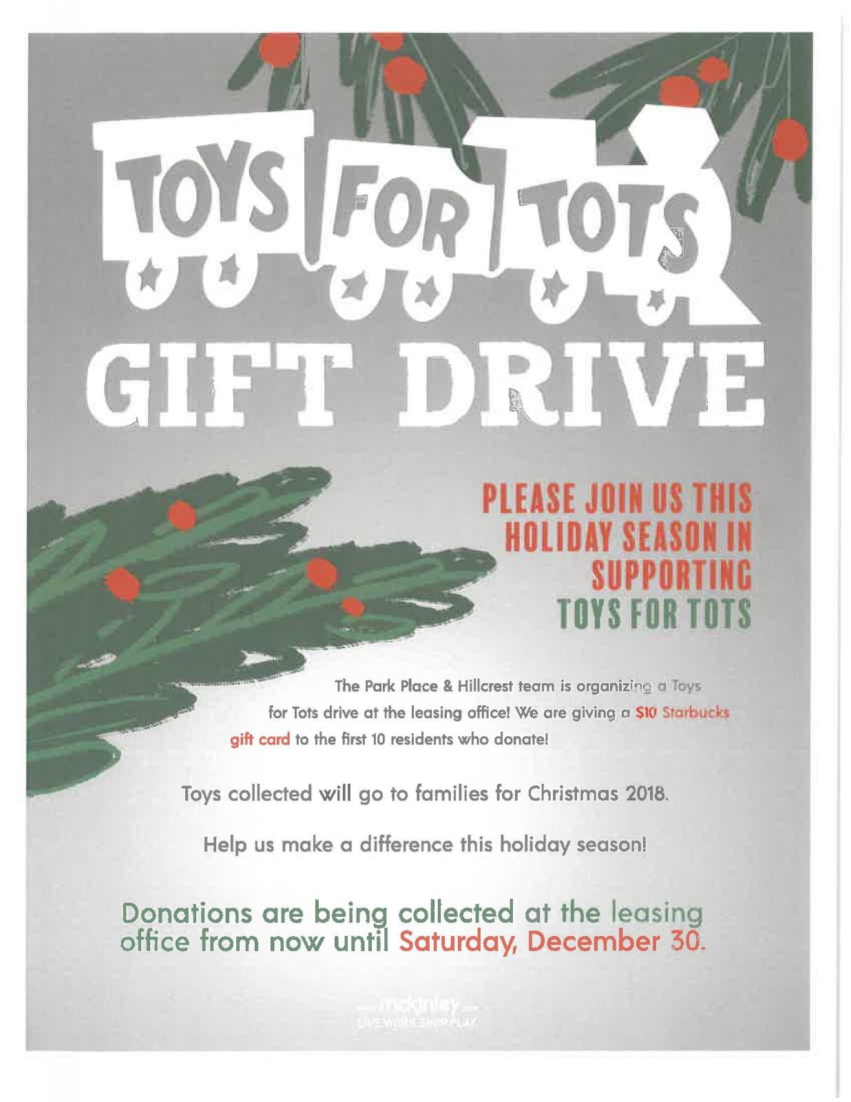 Tis The Season! Toys for Tots Collection! | My.McKinley.com - Your ...